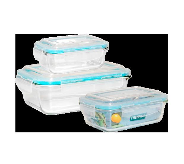 Glas-Frischhaltedosen 3er-Set