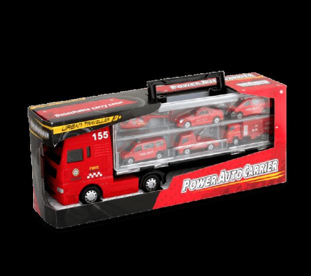Supertruck mit 6 Spielzeugautos
